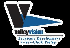 Valley Vision logo. Economic Development Lewis-Clark Valley.