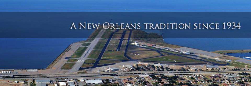 New Orleans Lakefront Airport aerial view.
