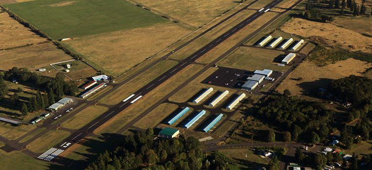 Scappoose Industrial Airpark aerial view.
