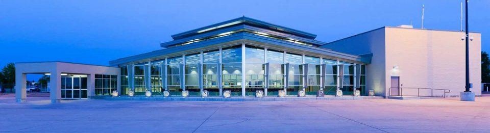 Redding Municipal Airport terminal building.