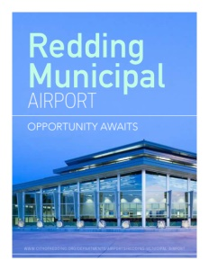 The Redding Municipal Airport brochure cover.