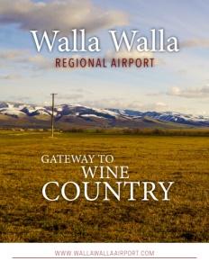 Walla Walla Regional Airport brochure cover.