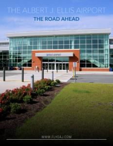 The Albert J Ellis Airport brochure cover.