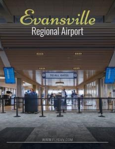 The Evansville Regional Airport brochure cover.