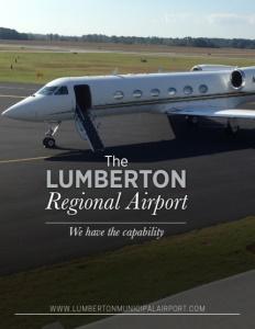 The Lumberton Regional Airport brochure cover.