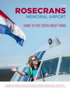 The Rosecrans Memorial Airport brochure cover.