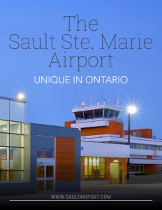 The Sault Ste. Marie Airport brochure cover.