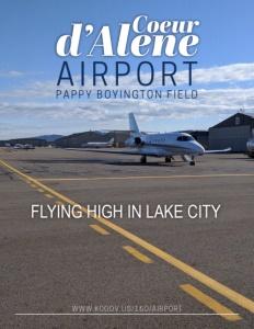 Coeur d'Alene Airport / Pappy Boyington Field brochure cover.