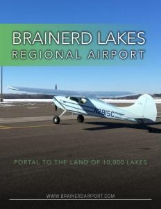 Brainerd Lakes Regional Airport brochure cover.