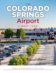 Colorado Springs Airport brochure cover.