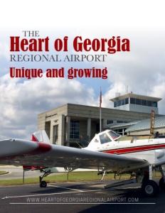 The Heart of Georgia Regional Airport brochure cover.