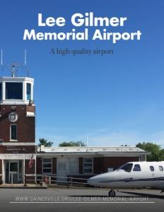 Lee Gilmer Memorial Airport brochure cover.