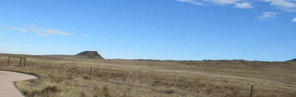 Roswell International Air Center, stock photo of new mexico land and sky.