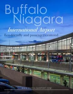 Buffalo Niagara International Airport brochure cover.