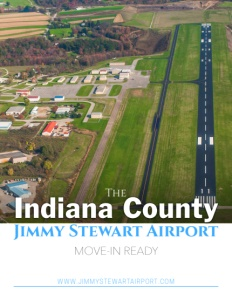 Indiana County Jimmy Stewart Airport brochure cover.