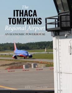 Ithaca Tompkins Regional Airport brochure cover.