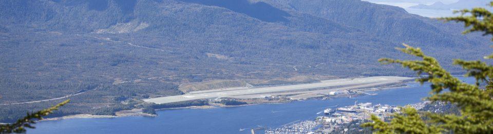 Ketchikan International Airport aerial view.