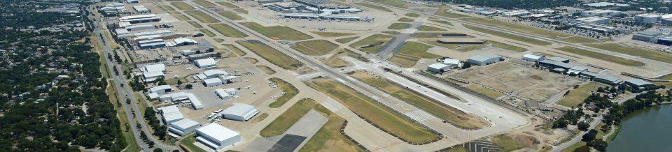 Dallas Love Field Airport (DAL) aerial view of runway
