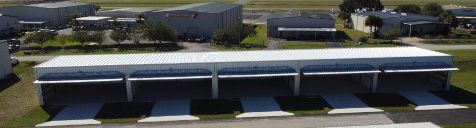 Leesburg International Airport new box hangars