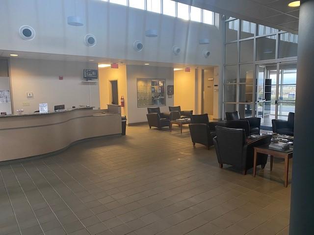 Pryor Field Regional Airport terminal interior